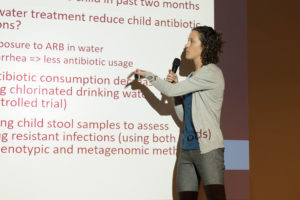 Dr. Amy Pickering describes use of surveillance from water samples to characterize AMR